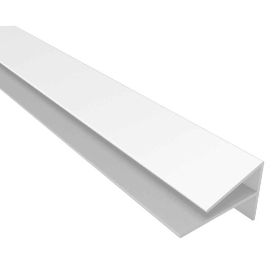 ACP Bath & Kitchen 1/8 In. x 8 Ft. White PVC Outside Corner Wall Paneling Molding