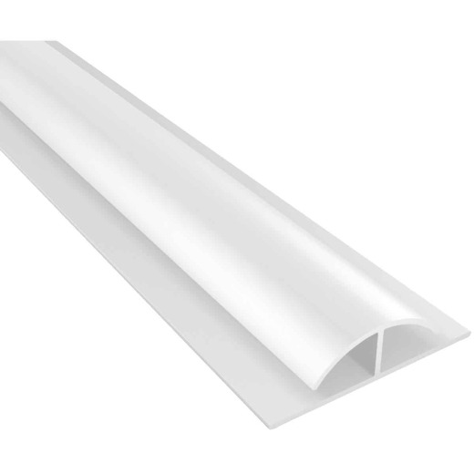 ACP Bath & Kitchen 1/8 In. x 8 Ft. White PVC Divider Wall Paneling Molding
