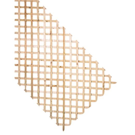 Prowood 4 Ft. W x 8 Ft. L x 1/2 In. Thick Natural Treated Wood Lattice Panel