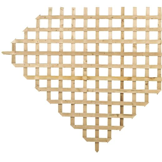 Prowood 4 Ft. W x 8 Ft. L x 5/8 In. Thick Natural Treated Wood Lattice Panel