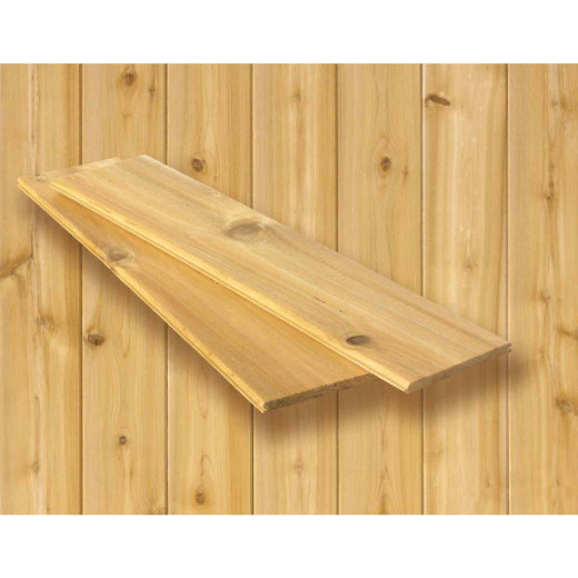 DPI 3-1/2 In. x 5/16 In. (Random Lengths) Natural Tongue and Groove Cedar Plank