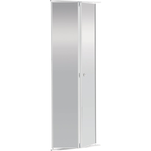 Colonial Elegance 30 In. H x 80-1/2 In. H Clear Framed Mirrored Bifold Door