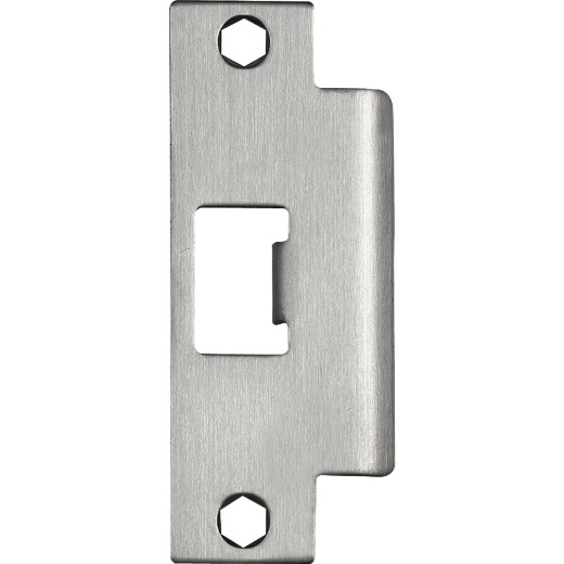 Tell Satin Stainless Steel 1-1/4 In. ASA Strike Plate