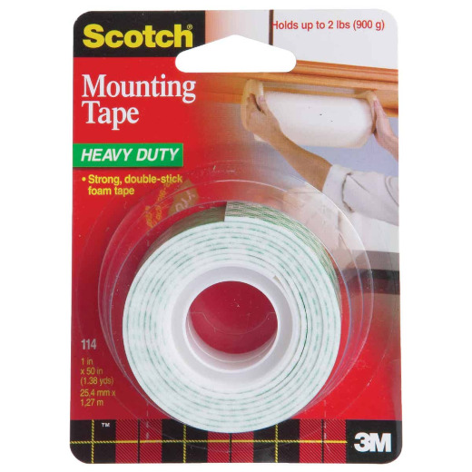 3M Scotch 1 In. x 55 In. Indoor Double-Sided Mounting Tape (5 Lb. Capacity)