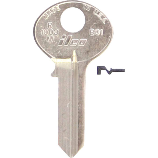 Bilco Bommer Nickel Plated Mailbox Key, (10-Pack)