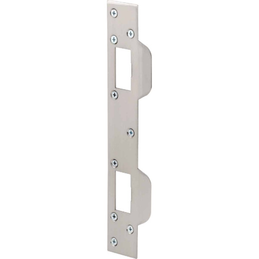 Defender Security 5-1/2 In. Satin Nickel Combination Door Strike