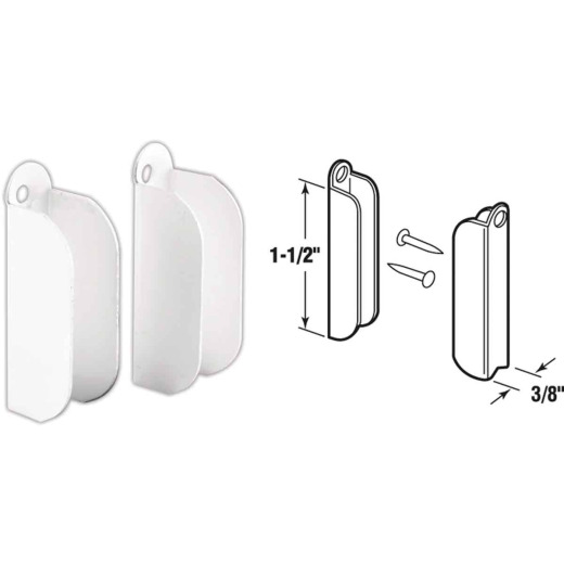 Prime-Line White Top Hanger (6 Pair)