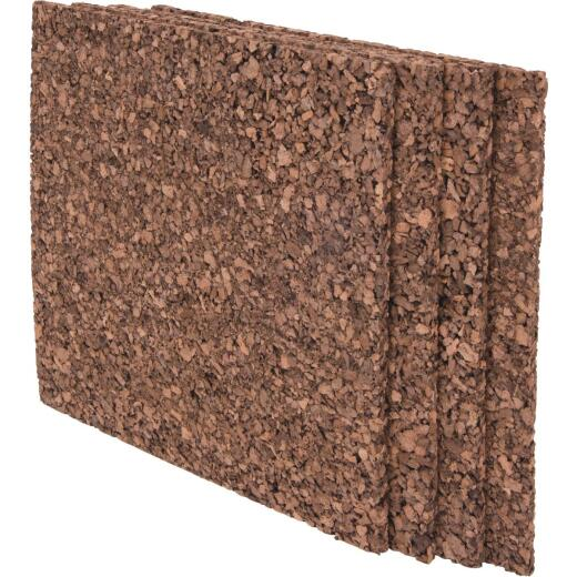 Board Dudes 12 In. x 12 In. Dark Cork Tiles (4 Count)