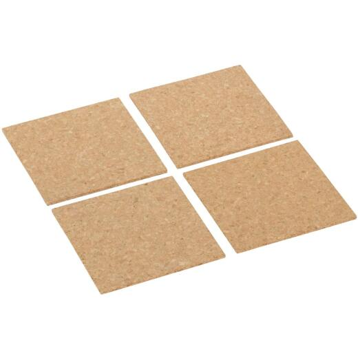 Board Dudes 6 In. x 6 In. Light Cork Tiles (4 Count)