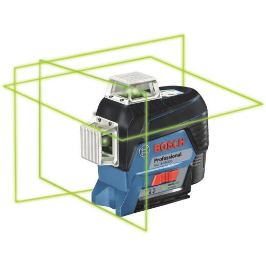 Bosch 200 Ft. Self-Leveling 360 Deg Green-Beam 3-Plane Leveling & Alignment-Line Laser Level Kit