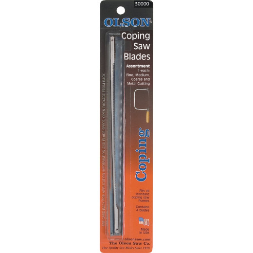 Olson 6-1/2 In. Coping Saw Blade Assortment (4-Pack)