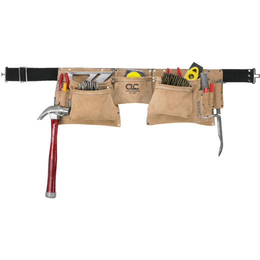 CLC 12-Pocket Suede Leather Heavy-Duty Carpenter Apron