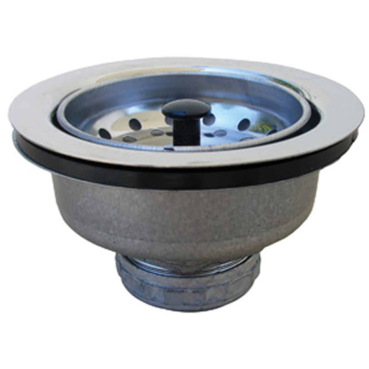 Lasco 3-1/2 In. Chrome EZ Cup Basket Strainer Assembly
