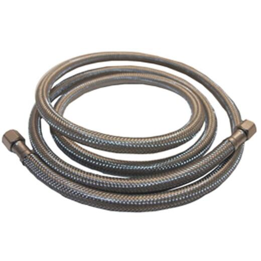 Lasco 1/4 In. x 1/4 In. x 20 Ft. Length Braided Supply Ice Maker Connector Hose