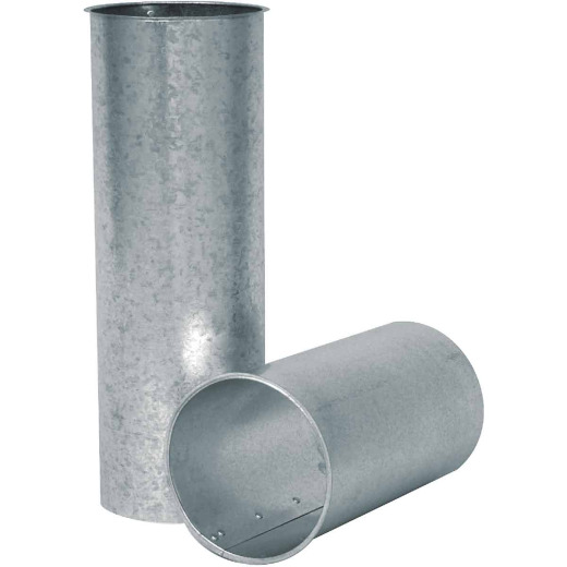 Imperial 28 Ga. 6 In. x 6 In. Galvanized Chimney Thimble