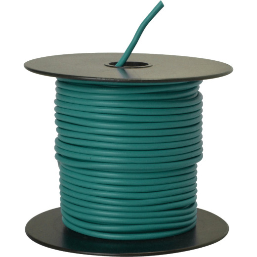 ROAD POWER 100 Ft. 14 Ga. PVC-Coated Primary Wire, Green