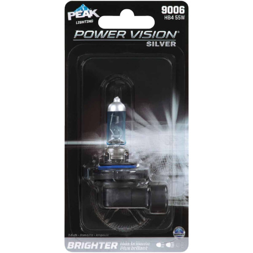 PEAK Power Vision Silver 9006 HB4 12.8V Halogen Automotive Bulb