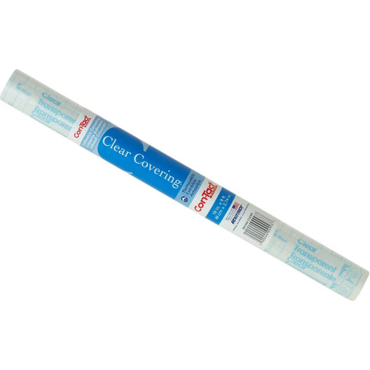 Con-Tact Clear Cover 18 In. x 9 Ft. Transparent Self-Adhesive Liner
