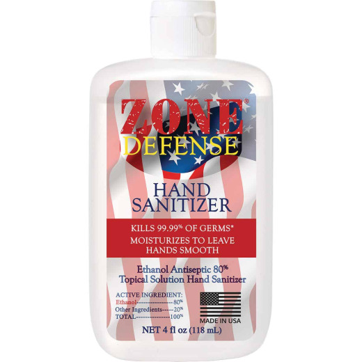 Zone Defense 4 Oz. Hand Santiizer