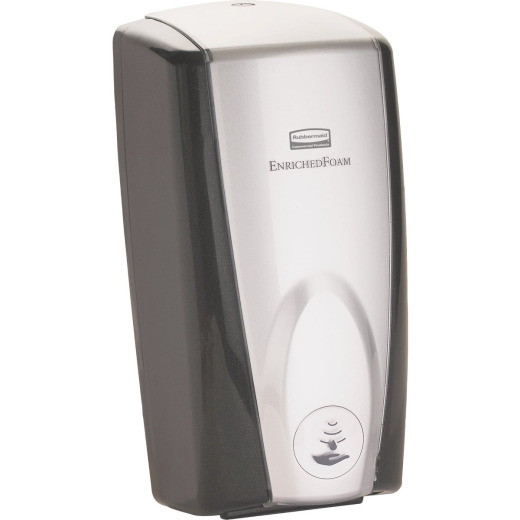 Rubbermaid Autofoam Wall Mount Black Chrome Hand Sanitizer Dispenser