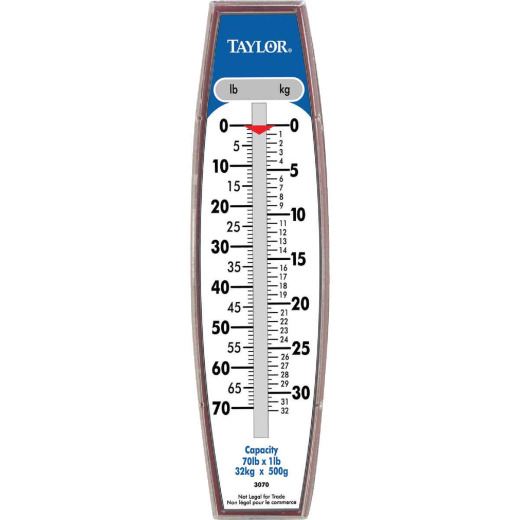 Taylor 70 Lb. Capacity Steel Hook Hanging Scale