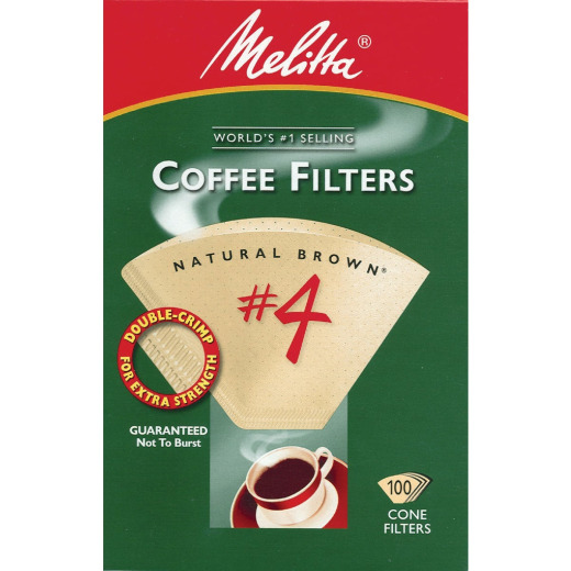 Melitta #4 Cone 8-12 Cup Brown Coffee Filter (100-Pack)