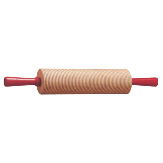 Bethany 17.25 Wood Corrugated Rolling Pin