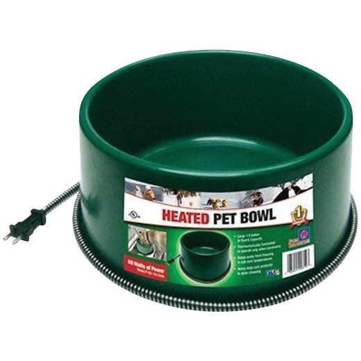 Farm Innovators 1.5 Gal. Plastic Heated Pet Bowl