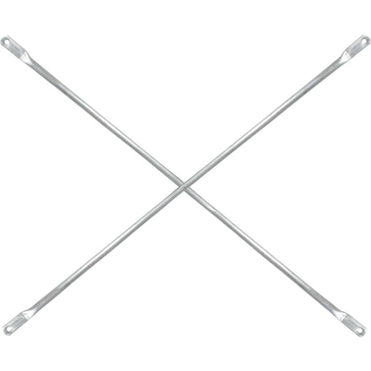 MetalTech 7 Ft. x 4 Ft. Galvanized Steel Scaffolding Cross Brace For Frames