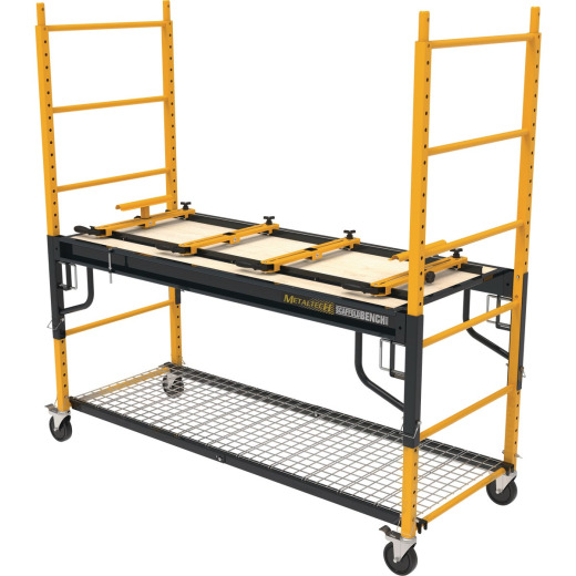 Metaltech 4-in-1 Scaffolding, Miter Saw Stand, Storage Rack & Utility Cart