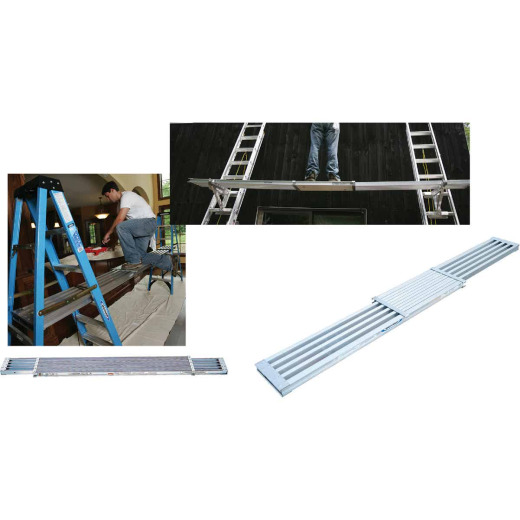Werner 8 Ft.- 13 Ft. 250 Lb. Load Capacity Aluminum Extension Plank