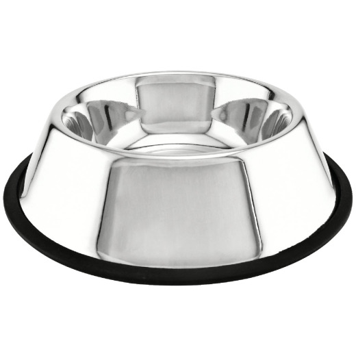 Westminster Pet Ruffin' it Stainless Steel Round 24 Oz. Non-Skid Pet Food Bowl
