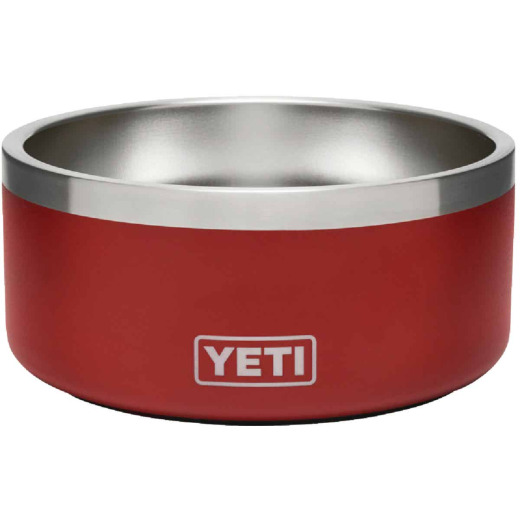 Yeti Boomer 4 Stainless Steel Round 4 C. Dog Food Bowl, Brick Red